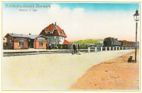 Historische Postkarte Bahnhof Bannewitz